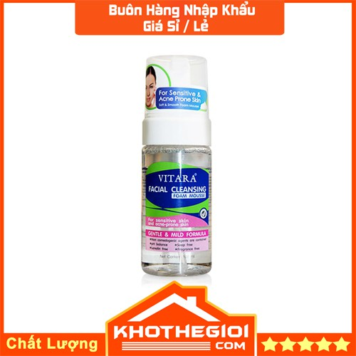 Bọt Rửa Mặt Làm Sạch Da Mụn Và Da Nhạy Cảm Vitara Facial Cleansing Foam Mouse