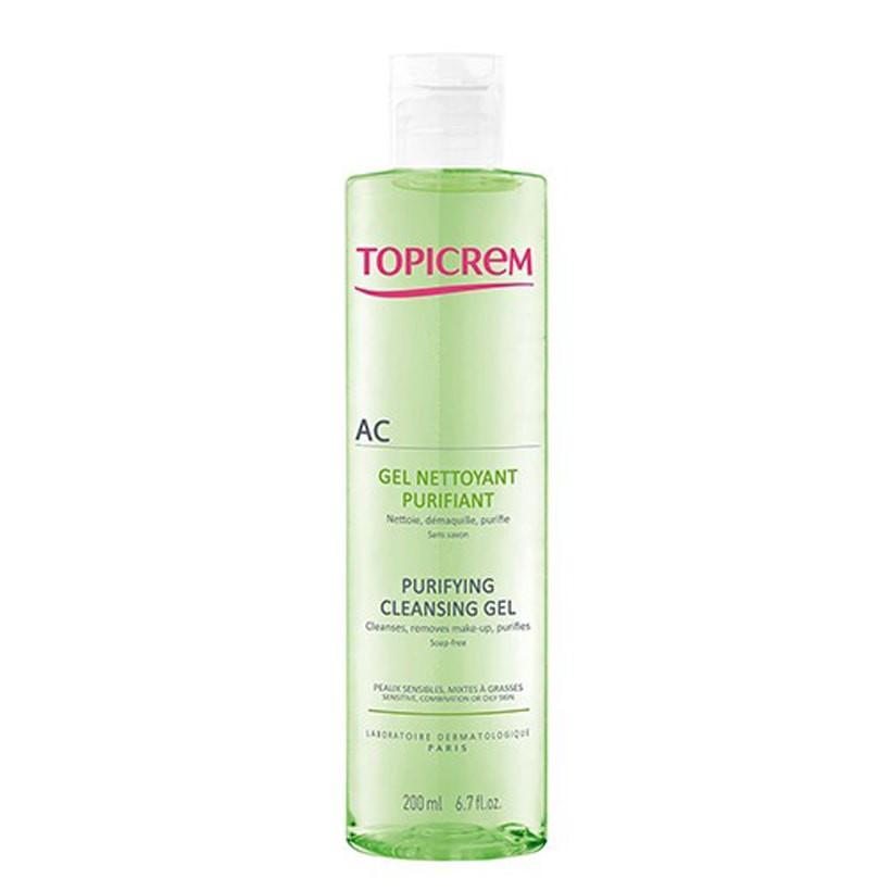 Gel rửa mặt cho da nhờn mụn AC Purifying Cleansing Gel – Topicrem (200ml)