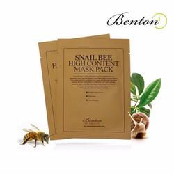 Mặt nạ dưỡng da trị mụn Benton Snail Bee High Content Mask Pack 20g