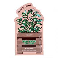 Mặt nạ miếng dưỡng da, ngừa mụn chiết xuất tràm trà Scentio Tea Tree 5g