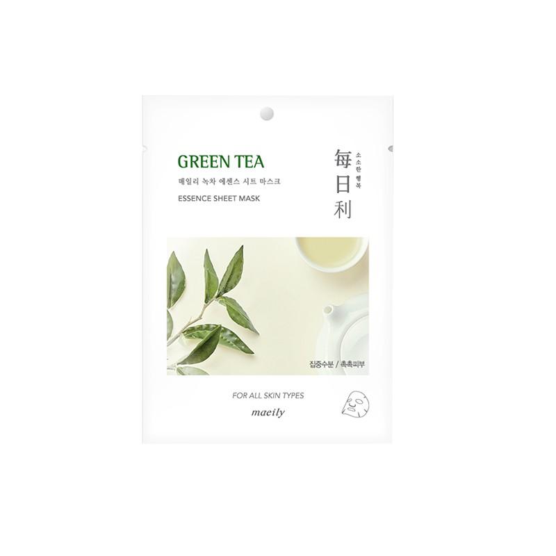 Mặt Nạ Tinh Chất Trà Xanh Dưỡng Ẩm Và Ngăn Ngừa Mụn Hình Thành Maeily Green Tea Essence Sheet Mask