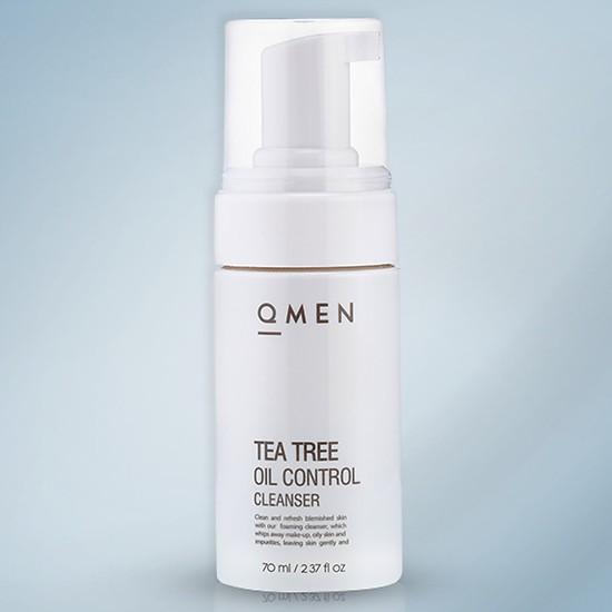 Sữa Rữa Mặt Tea Tree Oil Cleaner QMEN – Trị Mụn – Giảm Tiết Nhờn (70ml)
