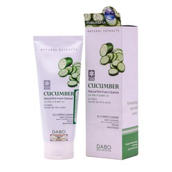 Sữa rửa mặt trị mụn, trắng da Hàn Quốc Dabo Cucumber (180ml)