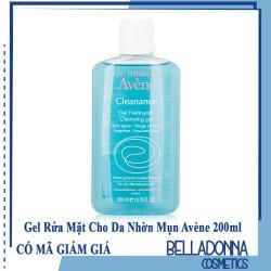 Gel Rửa Mặt Dành Cho Da Nhờn Mụn Eau Thermale Avene Cleanance Cleansing Gel 200ml
