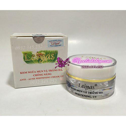Kem ngừa mụn dưỡng trắng da ngày và đêm Leiyas