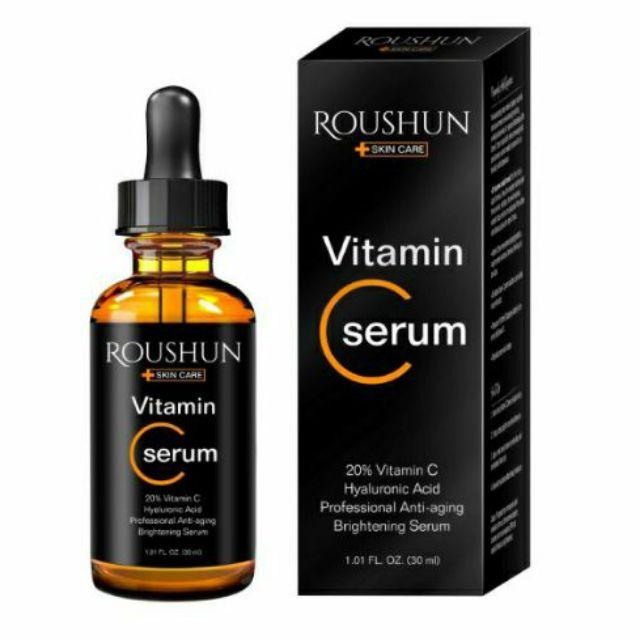 Serum Tinh Chất Vitamin C 20% Trị Mụn Giúp Da Sáng Khoẻ Roushun
