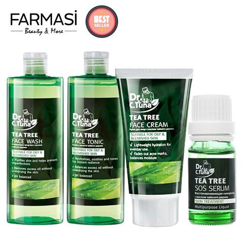 Combo 4 Sản Phẩm Dưỡng Da Trị Mụn Chiết Xuất Tea Tree Farmasi