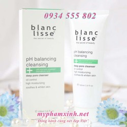 Combo Giảm Mụn Trắng Da BLANC LISSE – Gel Rửa Mặt pH BALANCING CLEANSING 100ML + ACTRE SERUM Ngừa Mụn 15ML